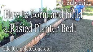 how to build a concrete raised planter bed part 1