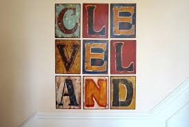 metal letter wall art cleveland on cleveland metal wall art with diy metal letter wall art p s bonjour