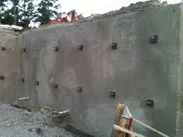 shotcrete concrete soil nail rening wall aquacrete