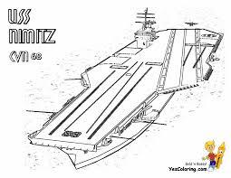 68 Nimitz Aircraft Ship At Coloring