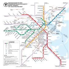 official map mbta rapid transitkey bus routes  transit maps