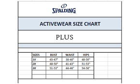 Tummy Size Chart Up To 53 Off On Spalding Ladies Active Bottoms Groupon Goods