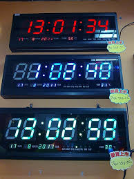 digital led wall clock auto calendar thermometer gt gtled