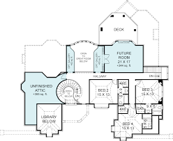second floor plan image of european four bedroom house plan