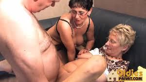 Four eyed German guy fucks two grannies Shameless