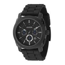 fossil watches men s ladies official fossil h samuel fossil men s chronograph black rubber strap watch product number 8529884