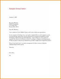 Formal Letter Format Samples Formal Letter Format Sample Green Brier Valley