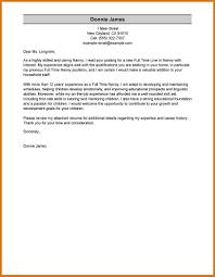 Nanny Cover Letter Modern Bio Resumes