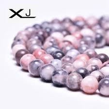 <b>XJ Natural</b> Pink Zebra Stone Round Spacer Beads 4 6 8 10MM Pick ...