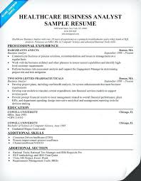 Business Analyst Resume Examples Healthcare Business Analyst Resume