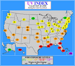 Uv Index Chart Today The Ozone Hole