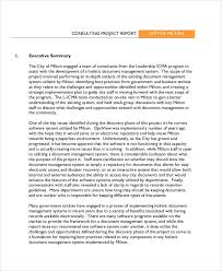 executive summary format for project report 9 consulting report examples samples