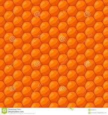 безшовная картина с сотами и медом пчелы иллюстрация вектора