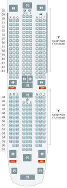 here s a seat map to help you visualize the cabin arrangement note that two of the seats that appear on the map don t actually exist there are no seats