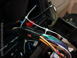 ford f factory radio uninstall and new radio install securing wiring harnesses zip ties