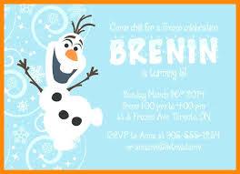 Frozen Invitation Sample Example Birthday Frozen Birthday Invitation