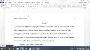 The Basics How To Write An Apa Style Paper Youtube