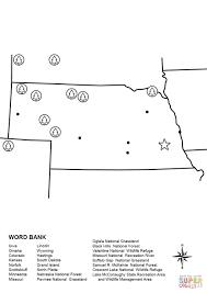 Nebraska Map Worksheet coloring page | Free Printable Coloring Pages