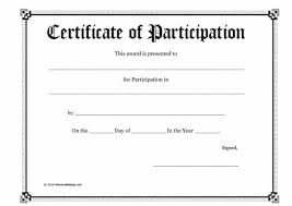 Certificate Of Participation Templates 40 Certificate Of Participation Templates Printable Templates