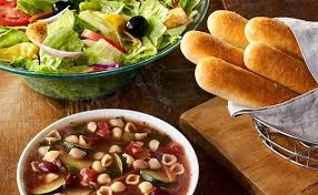 soup salad and breadsticks lunch