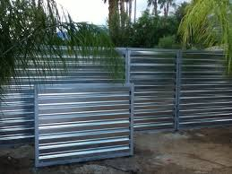 corrugated metal fence. Plain Fence Intended Corrugated Metal Fence F
