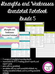 5 Strengths And Weaknesses Grade 5 Strengths And Weaknesses Anecdotal Notebook