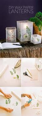 Wax Paper Flower Pressed Flower And Leaf Wax Paper Lanterns Homebnc