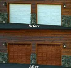 painted wood garage door.  Door Alternatively The Wood Filler May Be Utilized To Smooth Out Destroyed  Areas And Restore Look Of Weatherbeaten Doorway To Painted Wood Garage Door A