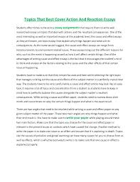 topics that best cover action and reaction essays jpg cb  topics that best cover action and reaction essays students often times come across essay assignments that