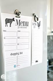 Free Printable Menu Planner Todays Creative Life