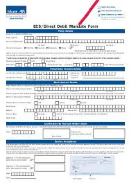 Direct Debit Form Direct Debit Mandate Form