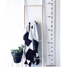 White Growth Chart Us 2 94 36 Off Nordic Creative Black White Kids Room Wall Hanging Decoration Growth Chart Wood Canvas Hang Height Charts Photography Props In Wind