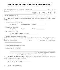makeup contract template hair stylist artist bridal agreement