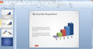 Free 3d Concept Bar Chart Design For Powerpoint Free