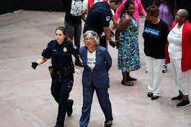 9 arrested in voting rights protest