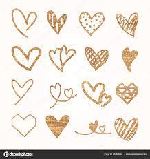 Golden Hearts Pattern Wallpaper Vector ...