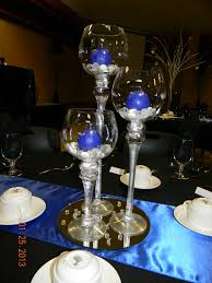 Blue And Gold Table Setting 6 Candle Holders Royal Blue Wedding Royal By Genevieveandpenelope