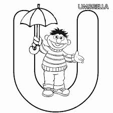 Small Picture Sesame Street Letter T Coloring Coloring Pages