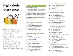 high calorie shake ideas