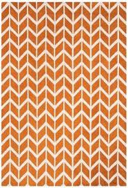 arlo ar07 chevron orange rug
