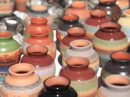 Native American Pottery Santa Fe New Mexico United States Of