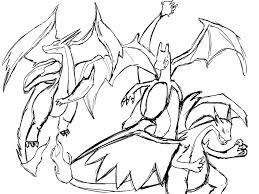 emerging mega fresh pokemon coloring pages mega charizard x