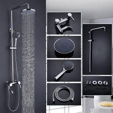 luxury brass bathtub faucet mixer tap with abs top sprayer hand shower wall mounted rain shower faucets set shower shower set shower facucet with