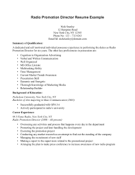 Radio Program Director Resume Cv Promotional Products Radio Promotion Director Resume Sample Ideas 9