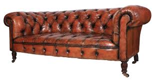 genuine victorian leather chesterfield sofa 7 of 11