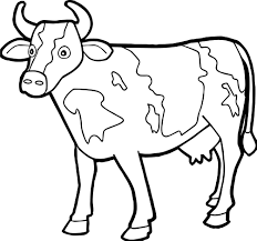 Small Picture Farm Animal Staying Cow Coloring Page Wecoloringpage