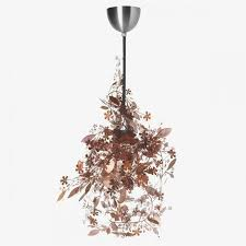habitat tord boontje s garland light shade flower lamp pendant chandelier copper