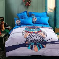 owl bedding set twin blue harry potter owls bird print home improvement wilson face reveal