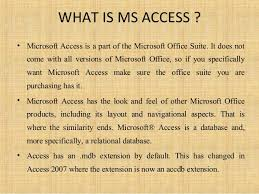What Is Microsoft Access Microsoft Access 2007