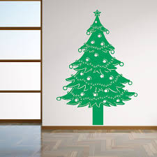 Vinyl Removable 3D Wall Sticker Christmas Tree Decals For Christmas Tree Decals